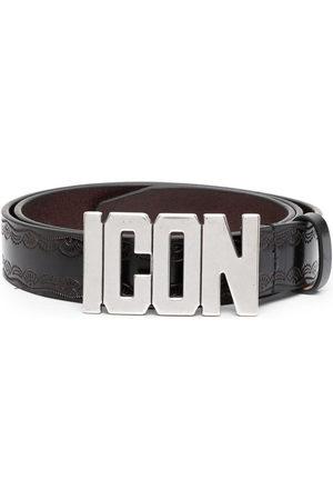 Dsquared2 Men Belts - Logo-plaque buckle belt