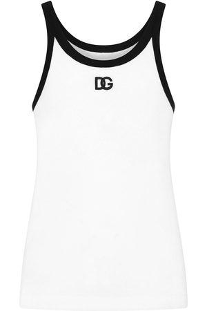 Dolce & Gabbana Men Tank Tops - Logo-print tank top
