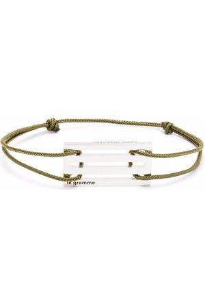 Le Gramme Bracelets - Punched cord bracelet