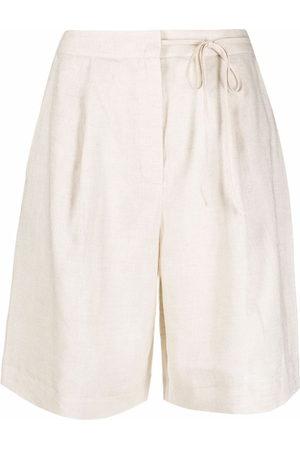12 STOREEZ Women Shorts - Tied-waist shorts - Neutrals