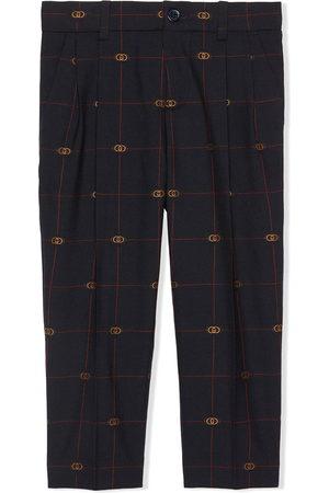Gucci Kids Interlocking G wool trousers