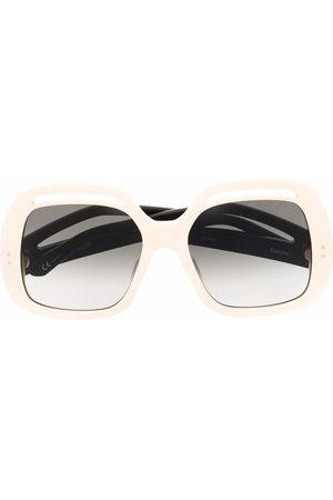 Linda Farrow Oversized-frame sunglasses - Neutrals