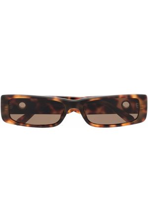 Linda Farrow Women Sunglasses - Eyelet-embellished oval-frame sunglasses