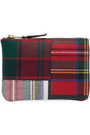 Comme Des Garçons Wallet Men Purses & Wallets - Tartan-patchwork wallet