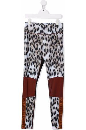 Molo Sports Leggings - TEEN animal-print sports leggings - Neutrals