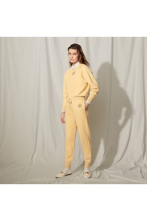 Sandro Knit jogging bottoms with embroidery