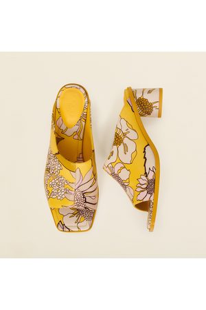 Sandro Printed leather mules