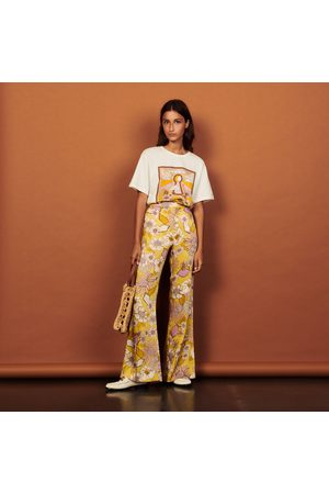 Sandro Loose-fitting printed trousers