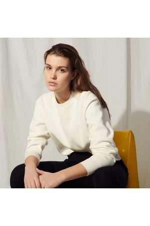Sandro Knit sweatshirt with embroidery