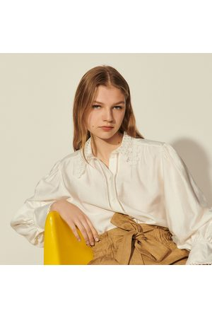 Sandro Shirt with lace collar