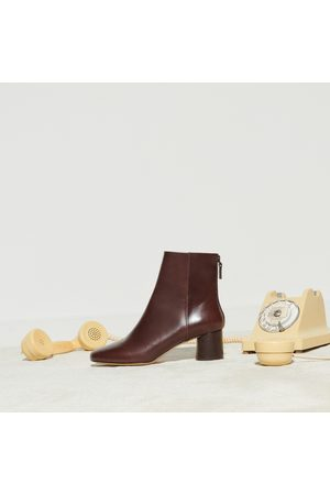 Sandro Smooth leather round-heel boots
