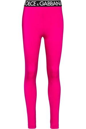 Dolce & Gabbana Logo-trim leggings