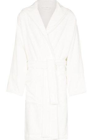 Tekla Men Bathrobes - Belted hooded bathrobe