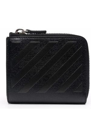 Off-White 3D diagonal zip wallet