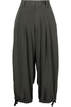Y's Women Trousers - High-waisted drop-crotch pants