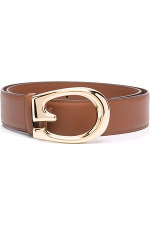Gucci G-buckle leather belt