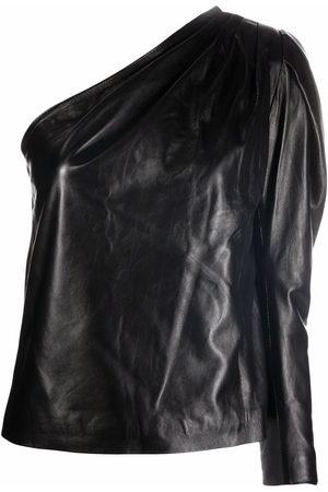 Manokhi One-shoulder leather blouse