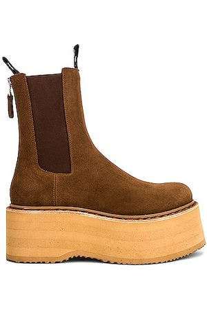 R13 Double Stack Chelsea Boot in Suede