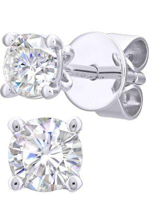 GOLDSMITHS Women Earrings - 18ct White Gold 0.25cttw Diamond 4 Claw Stud Earrings