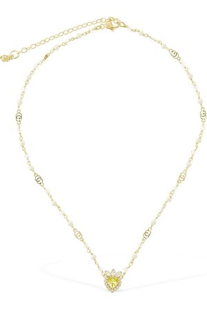 Gucci Heart & Imitation Pearl Short Necklace