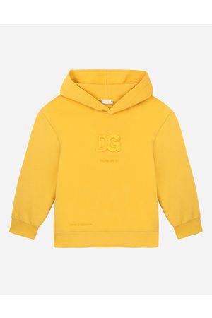 Dolce & Gabbana Collection - Jersey hoodie with embossed DG logo male 2