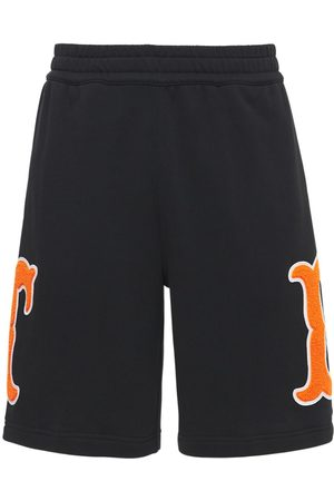 Burberry Badges Cotton Jersey Sweat Shorts