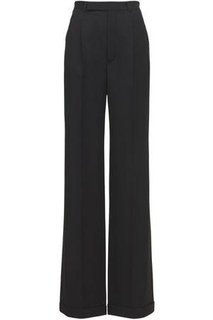 Saint Laurent Wool Wide Leg Pants