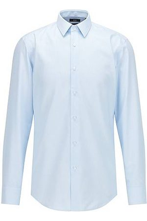 HUGO BOSS Men Long sleeves - Slim-fit shirt in Oxford cotton with antibacterial finishing