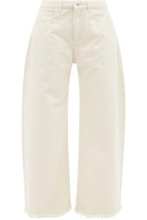 MARQUES'ALMEIDA Frayed-cuff Organic-cotton Wide-leg Jeans - Womens