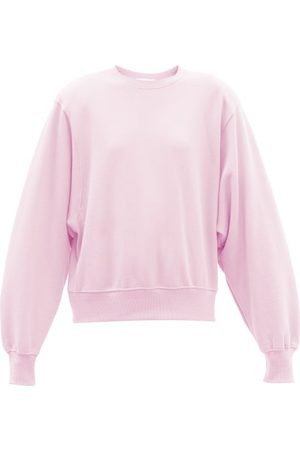 The Frankie Shop Vanessa Padded-shoulder Cotton Sweatshirt - Womens