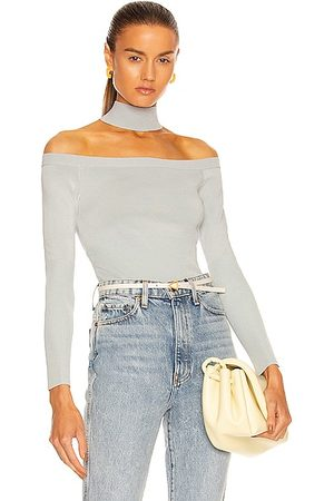 JONATHAN SIMKHAI Lila Cut Out Pullover in Tide