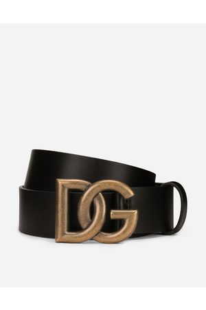 Dolce & Gabbana Men Belts - Collection - Lux leather belt with crossover DG logo buckle male 80