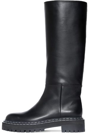Proenza Schouler 30mm Lug Leather Tall Boots