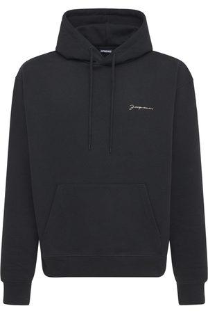 Jacquemus Men Sweatshirts - Le Sweatshirt Brodé Jersey Hoodie