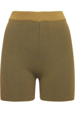 Jacquemus Women Sports Shorts - Arancia Viscose Knit Cycling Shorts