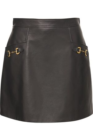 Gucci Women Leather Skirts - Shiny Leather Skirt