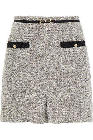 Maje Woman Jinie Metallic Fil Coupé Cotton-blend Tweed Mini Skirt Size 34