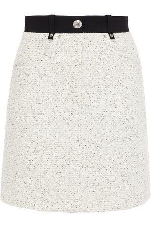 Maje Woman Jadka Bouclé-tweed Mini Skirt Ecru Size 34