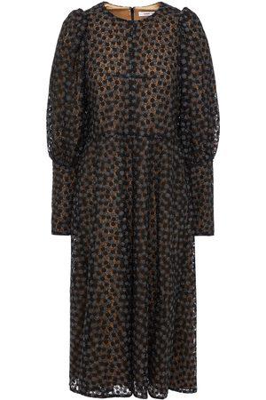 SAMSØE Φ SAMSØE Samsøe Φ Samsøe Woman Metallic Lace Midi Dress Size L