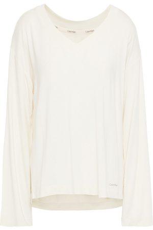 CALVIN KLEIN Woman Stretch-modal Pajama Top Ivory Size L