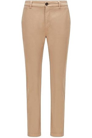 HUGO BOSS Regular-fit chinos in organic cotton with stretch