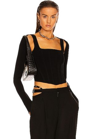 Dion Lee Pointelle Corset Long Sleeve Top in