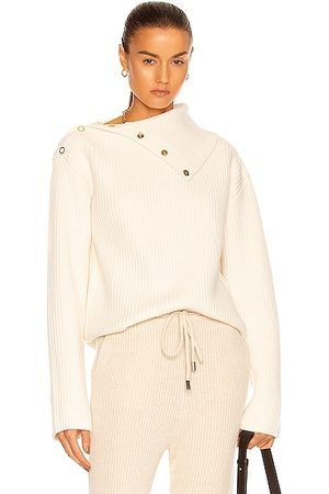 DION LEE Snap Button Sweater in Ivory