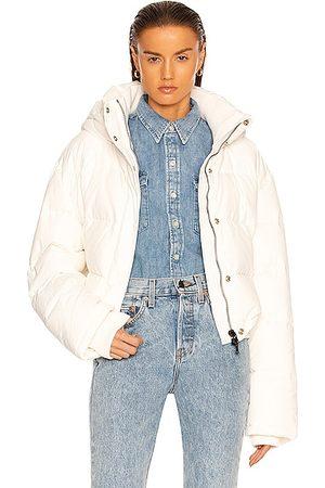 WARDROBE.NYC Puffer Jacket in Off