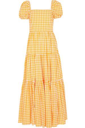 Caroline Constas Women Maxi Dresses - Hart checked maxi dress