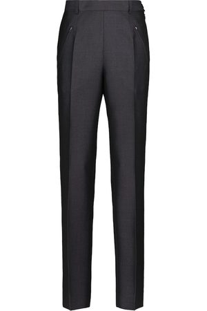 Maison Margiela Wool and mohair mid-rise straight pants