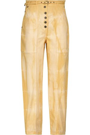 ULLA JOHNSON Women High Waisted - Apollo tapered-fit tie-dye jeans