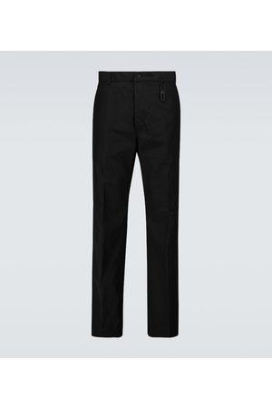 Fendi Wide-leg cotton-blend pants