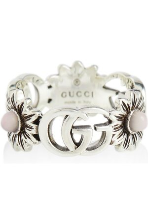 Gucci GG Marmont sterling ring with pearls