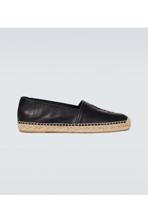 Saint Laurent Monogrammed leather espadrilles